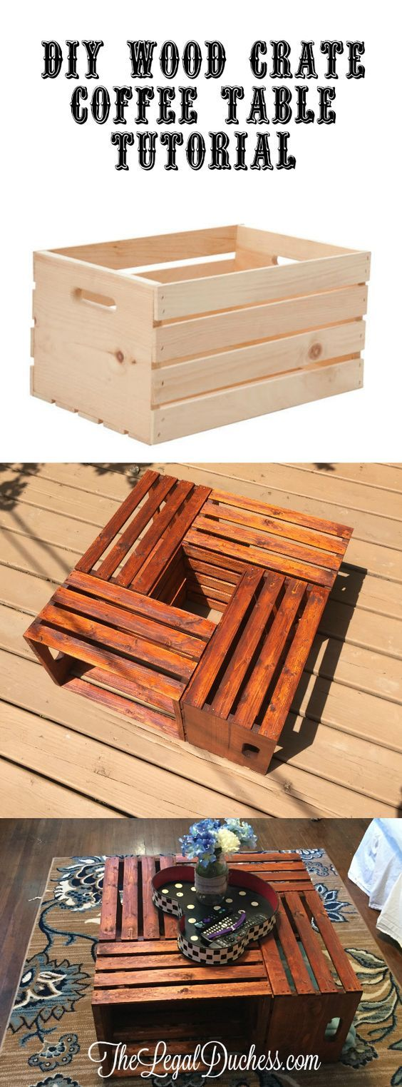Best 25 crate coffee tables ideas on pinterest traditional a simple and budget friendly diy project for a wood crate coffee table get this geotapseo Choice Image