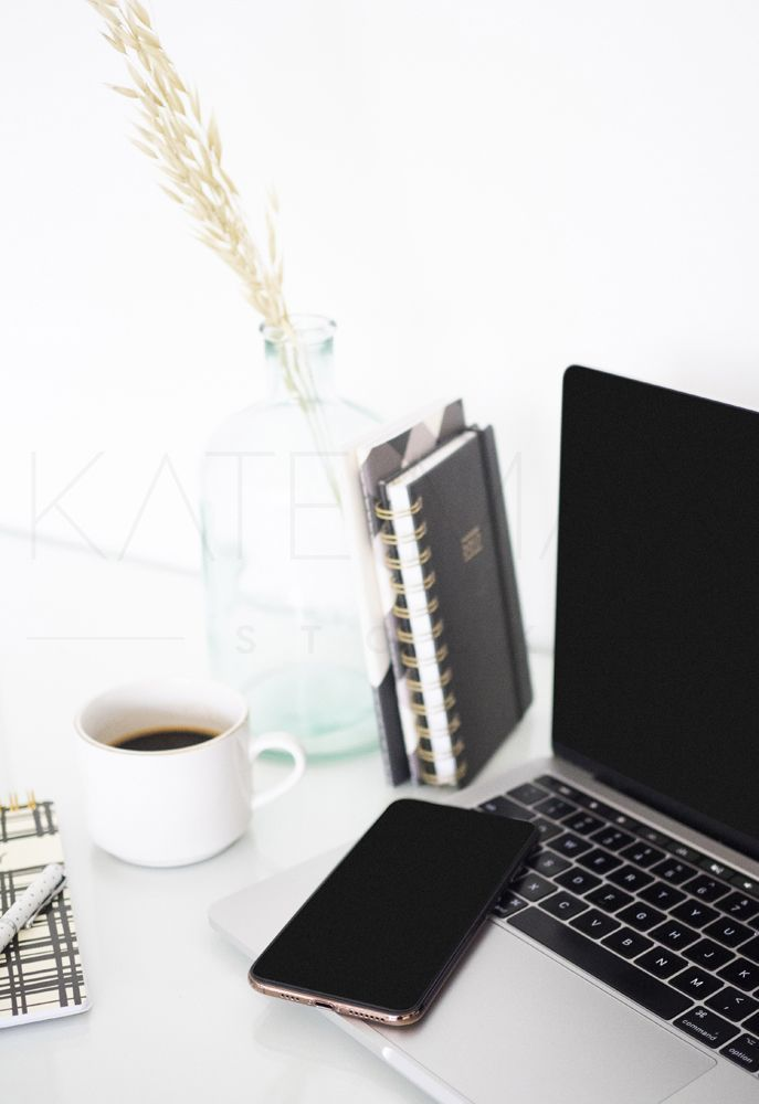 Download Black Desktop Styled Workspace Images Styled Stock Photography Iphone Mockup Computer Mockup