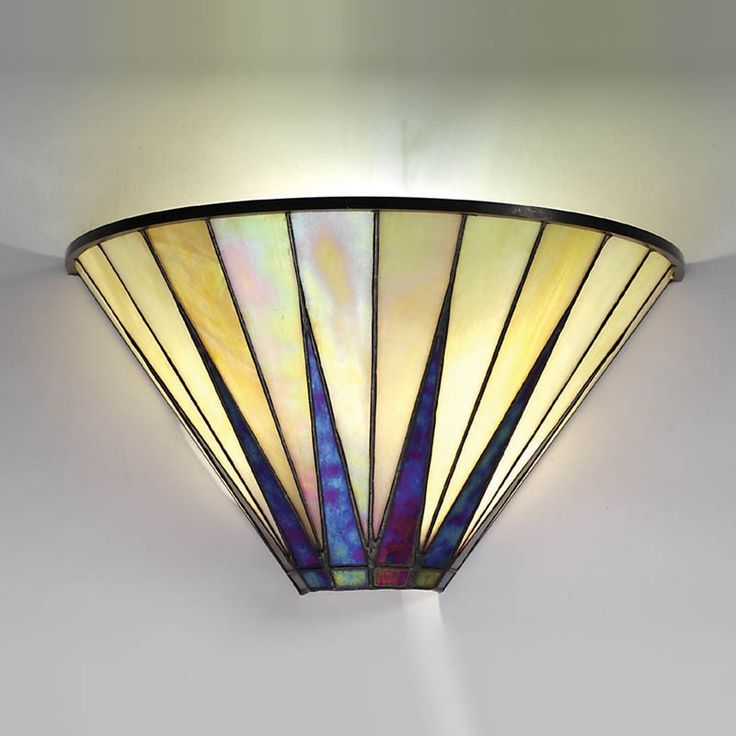artr deco stained glass lampshade - Google Search