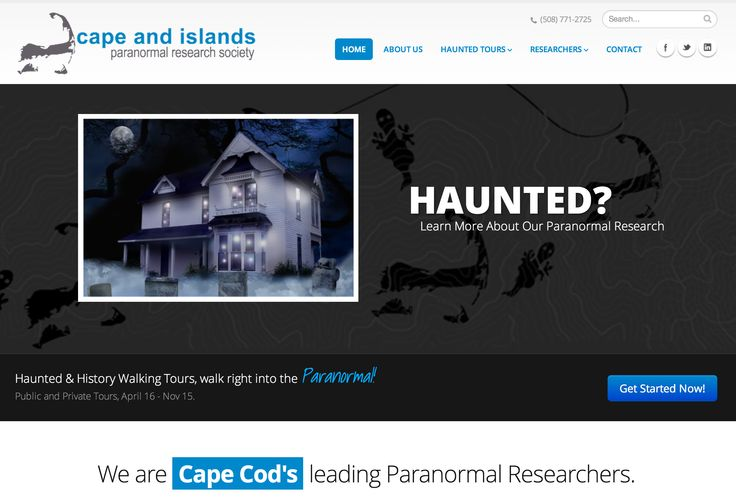 A redesign of a popular paranormal researcher in Massachusetts.