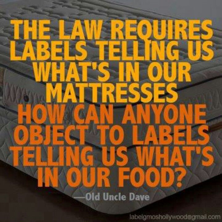Food for Thought. Since foods that have been genetically modified are killing us, we have a right to know what is in our food!!!!