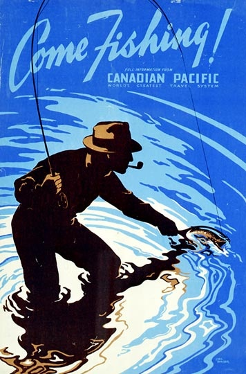Come Fishing!  Canadian Pacific Archives, 1938