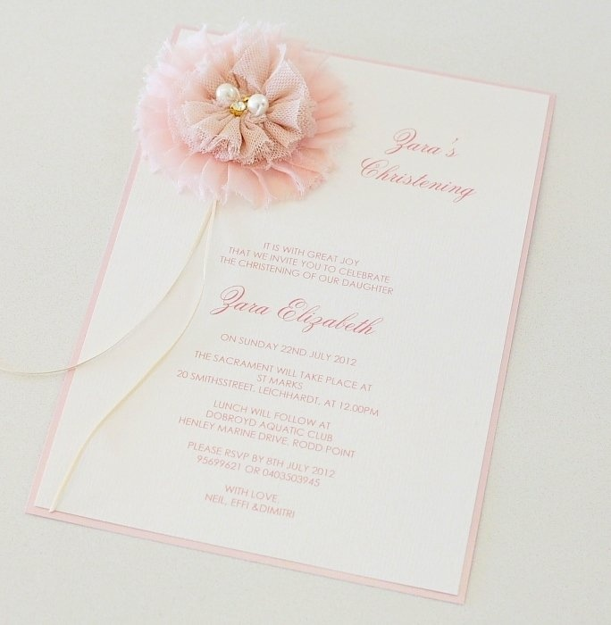 Image detail for -Shabby Chic Vintage Christening Invitation - Le Petit