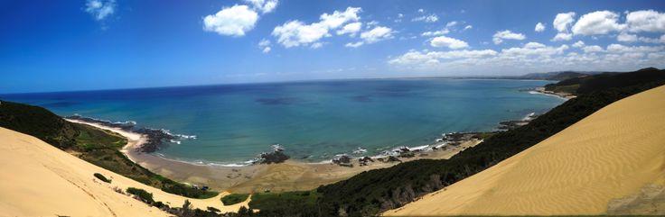 From the sand dunes looking out to Karirikura (Tasman Sea)