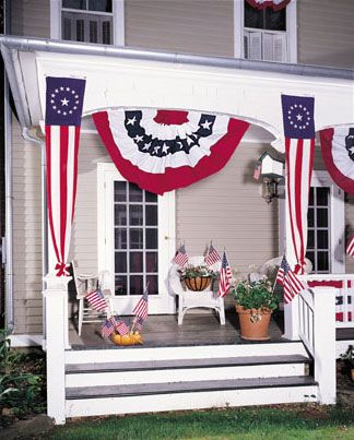 patriotic decorations: Feathers Flags, Google Image, Patriots Decor, Holidayseason Decor, Beautiful Porches, Image Results, 4Th Of July, Annin Flags, Front Porches