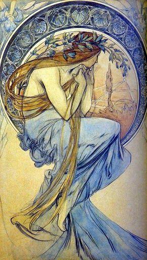 La Poesía, 1898. Alphonse Mucha