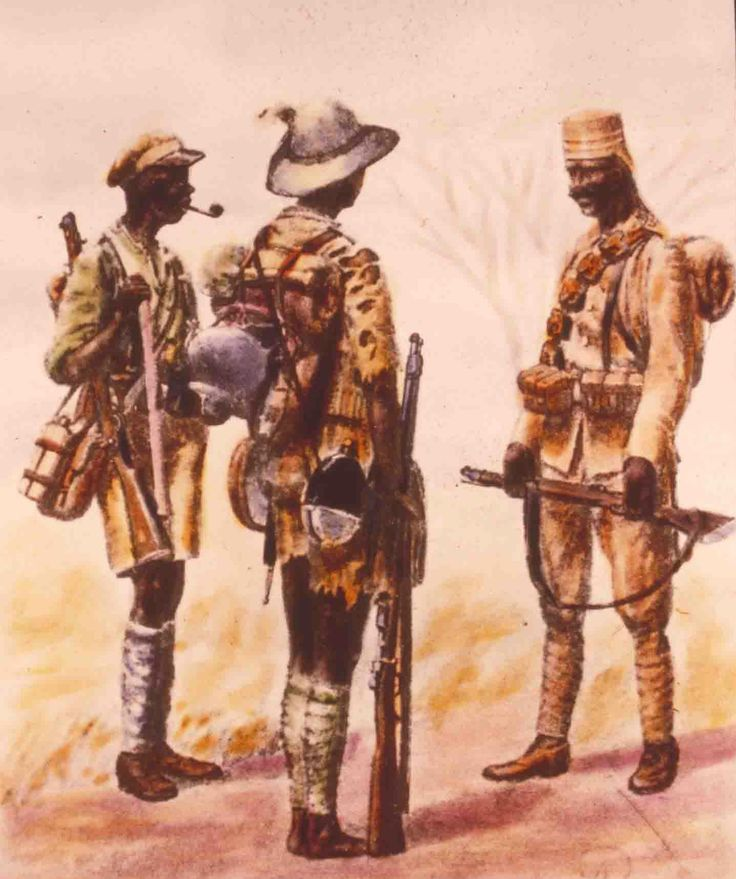 German Colonial Uniforms - Schutztruppe Askaris in German East Africa 1914-18