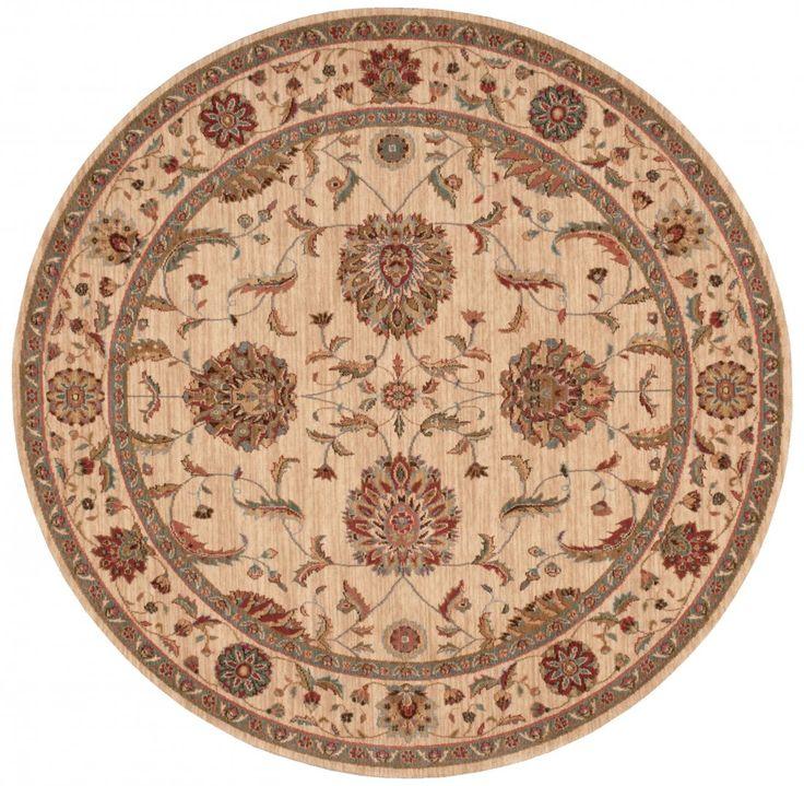 Living Treasures - Rond - NOURISON - Ivoor - klassieke tapijten - ref. Li04 IVI  Prachtig geweven klassiek tapijt van Nourison in het ivoor - ivoor met als afmetingen 'diameter 239 cm' (rond)  EUR 899.00  Meer informatie