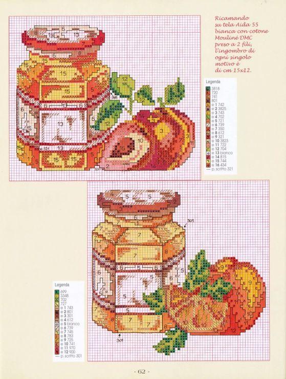 Strawberry and Plum Jam/Preserve Jars Cross-stitch Gallery.ru / Фото #60 - 16 зеленый - Mosca