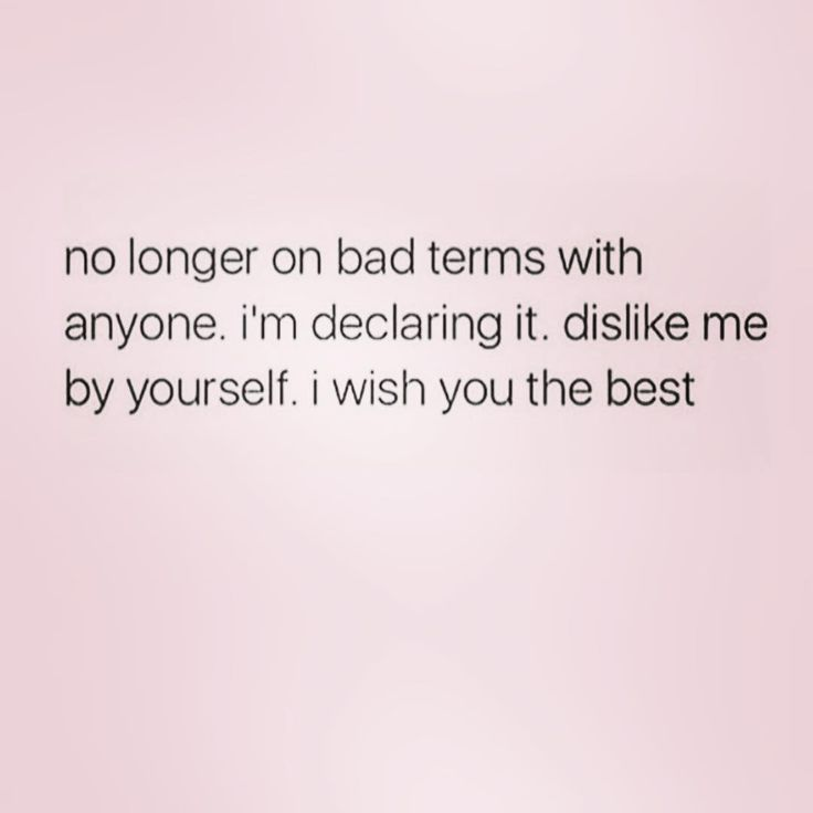 No longer on bad terms with anyone. I'm declaring it. Dislike me by yourself. I wish you the best.