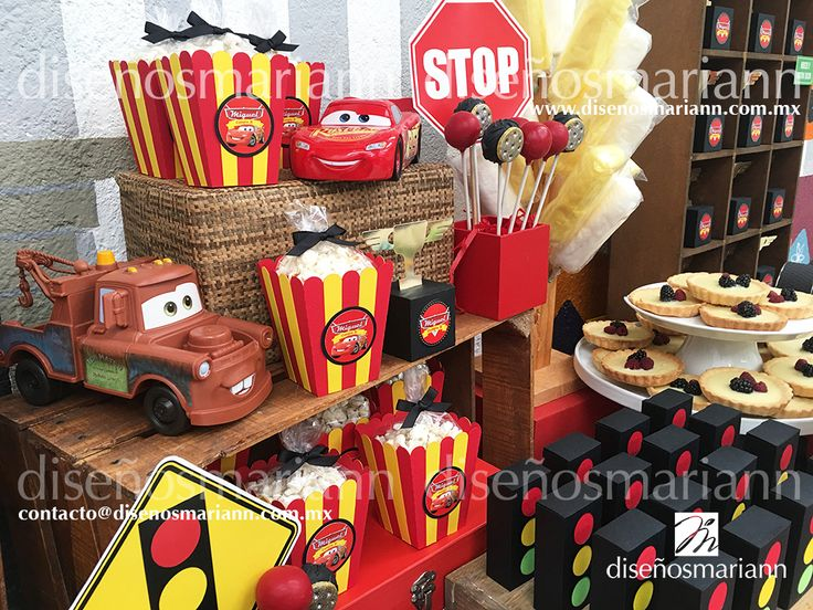 Cumpleaños Cars/Mesa de dulces Cars/Cars birthday ideas
