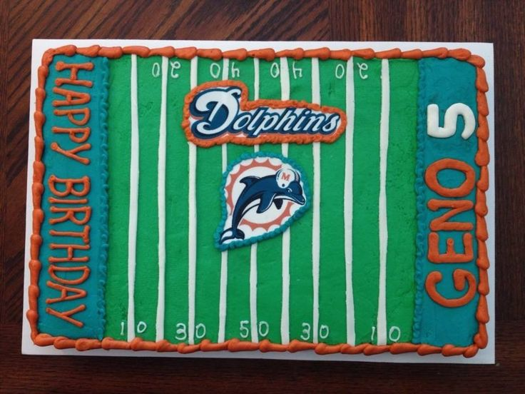 Miami dolphins cookie cake