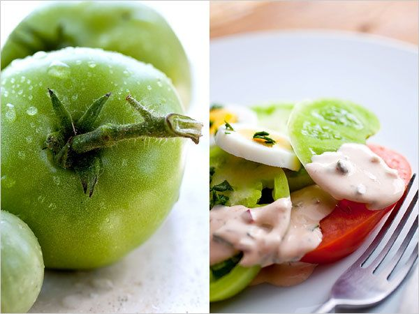 A fast-moving blight has killed many tomato plants in the Northeast. But green tomatoes are just as good, and nutritious, in a variety of dishes.