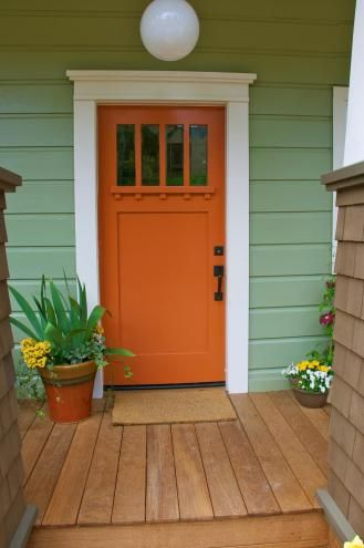 17 best ideas about orange front doors on pinterest orange door colored front doors and - Exterior door paint color ideas property ...