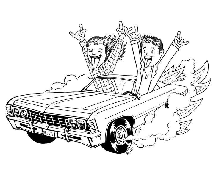 13 best supernatural coloring images on pinterest for Supernatural coloring pages