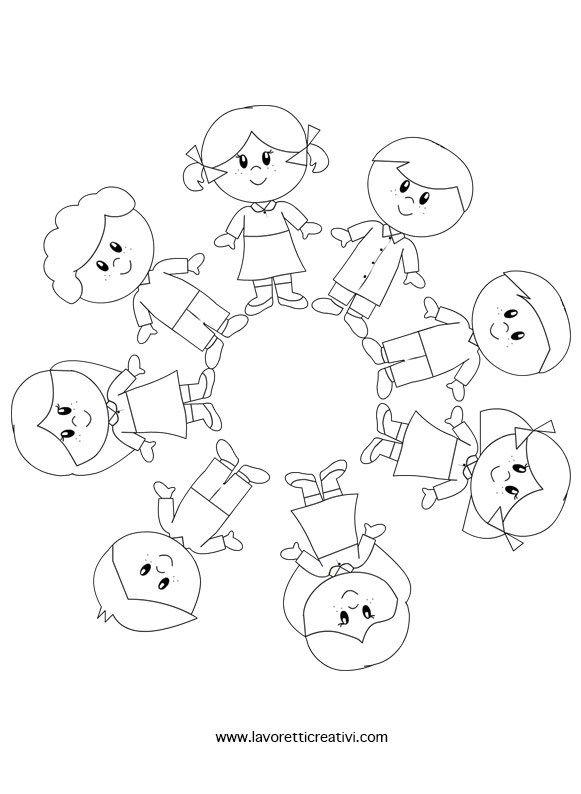 Risultati Immagini Per Girotondo Disegno Da Colorare Fëmijët E
