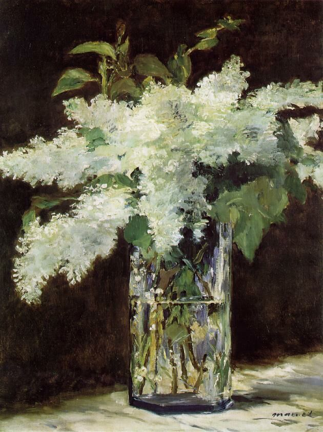 Édouard Manet (1832-1883). Lilacs in a Vase. C. 1882. Oil on canvas. Alte Nationalgalerie - Berlin - Germany