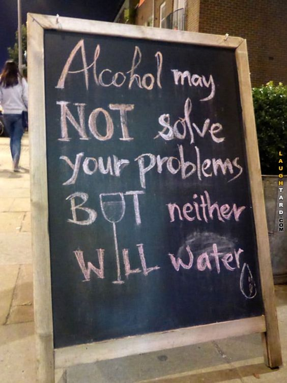 Alcohol may not solve your problems