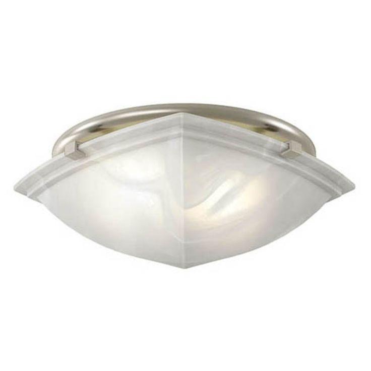 Decorative Bathroom Exhaust Fan With Light: Broan-Nutone 766BN Decorative Brushed Nickel Fan / Light