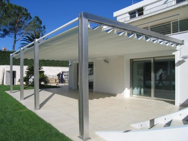 Cobertura retrátil para quintal. Pergola RetractableMetal ... - 25+ Best Ideas About Retractable Pergola On Pinterest Sun Shades