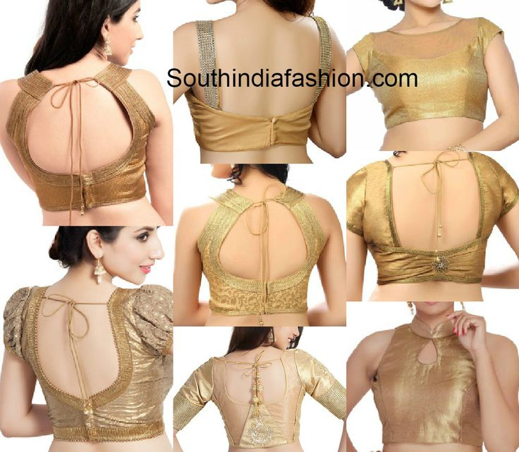 readymade gold blouses online photo