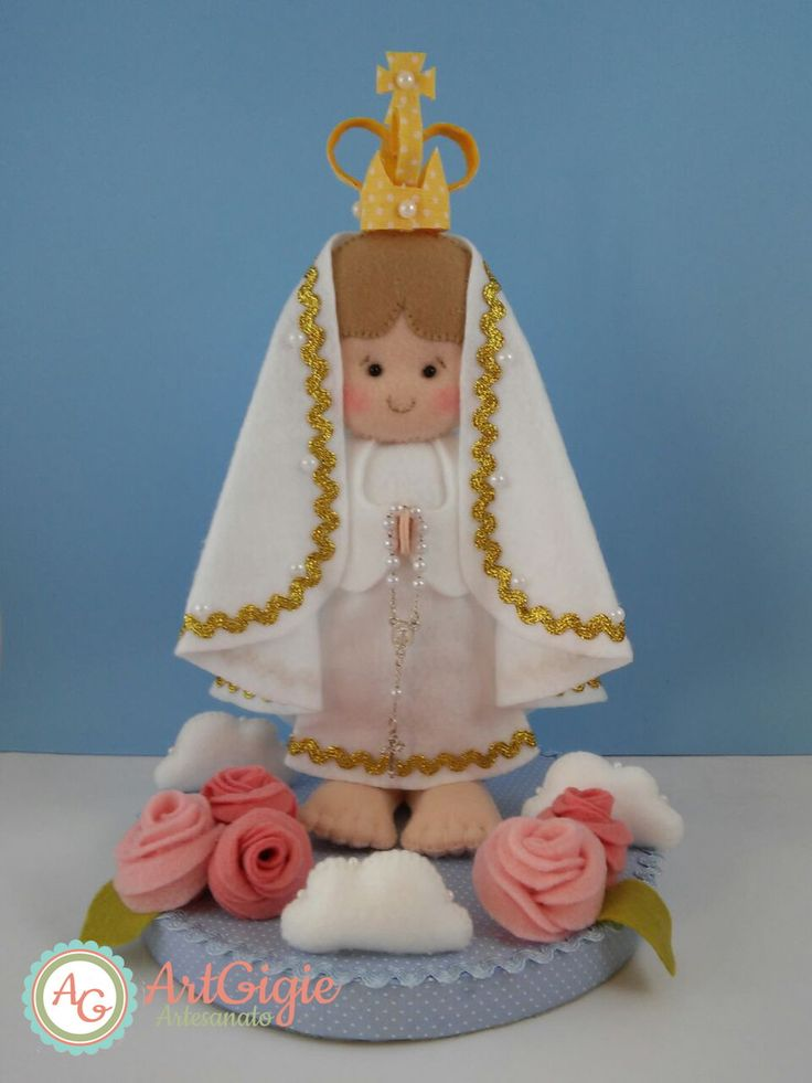 Nossa Senhora de Fatima em Feltro | ArtGigie | Elo7
