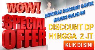 Harga Special Promo, Discount Cantik