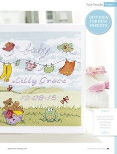 Breezy Baby Bliss The World of Cross Stitching Issue 233 October 2015 Saved