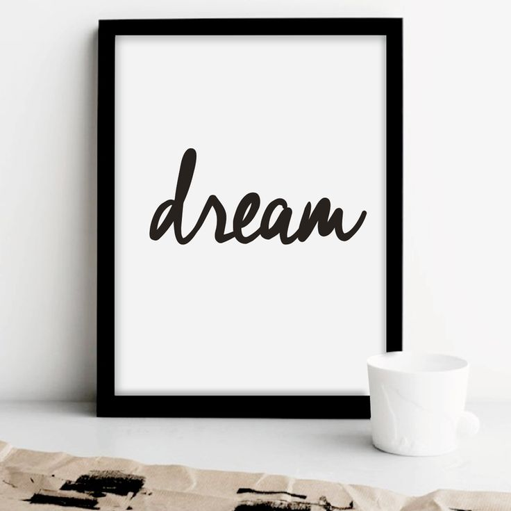 The Motivated Type Inspirational Quote Print Poster - Dream 1.png