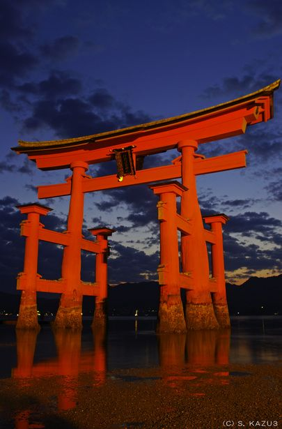 Torii gate of Itsukushima shrine, Hiroshima, Japan