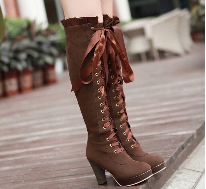 Liz lisa ruffle ribbon boots