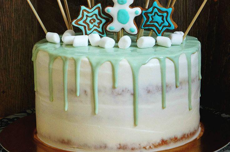 Один из вариантов оформления современного торта — красивые ...