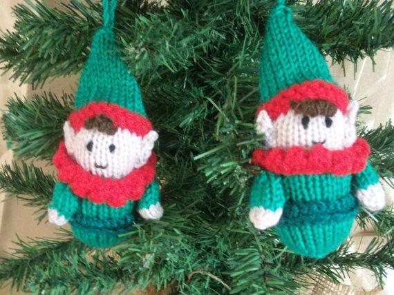 Christmas Tree Ornaments, Two Little Elves - Santas Little ...