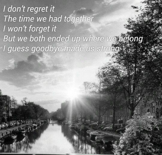 Carrie underwood - good in goodbye lyrics