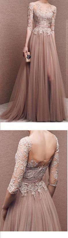 Appliques O-Neck A-Line Prom Dresses,Long Prom Dresses,Cheap Prom Dresses, Evening Dress Prom Gowns, Formal Women Dress,Prom Dress
