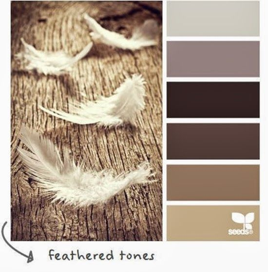 feathered tones - one of my favorite color palettes!