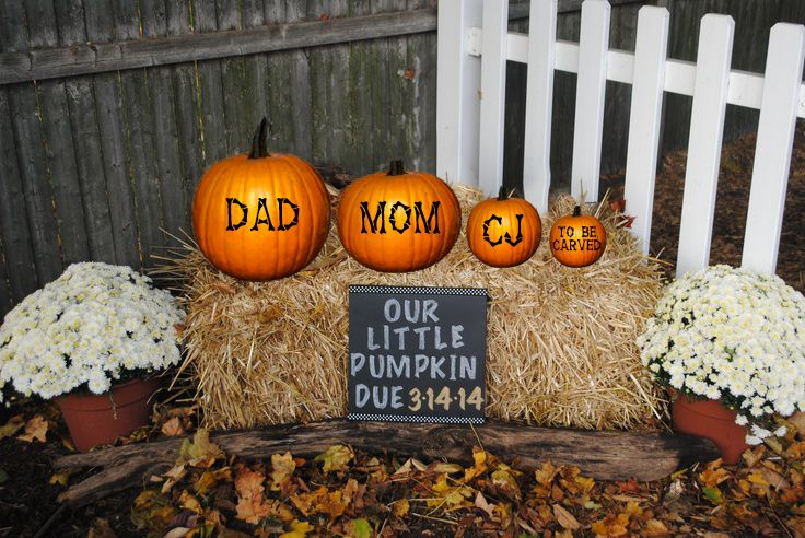 Our 2nd baby is on the way! I love announcing my babies in the fall!