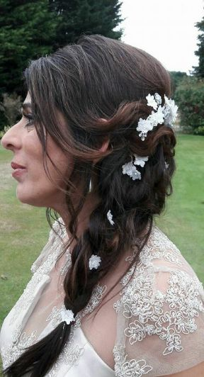 #Side Ponytail hairstyle  with braid