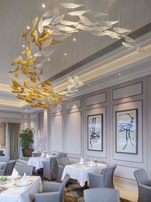 verandah lighting. The Verandah Restaurant At Peninsula Hong Kong Makes Most Of Its Large And Airy Space, With Spectacular Lighting By Lasvit, Czech Republic.