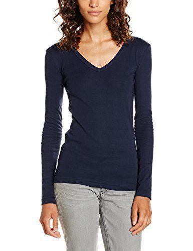 Petit Bateau 20893 – T-shirt – Manches longues – Femme – Bleu (Smoking) – XS: Tweet