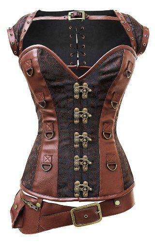 Corset Super Store Women's Steampunk Corset, Jacket, and Belt - http://steampunkvapemod.com/product/corset-super-store-womens-steampunk-corset-jacket-and-belt/