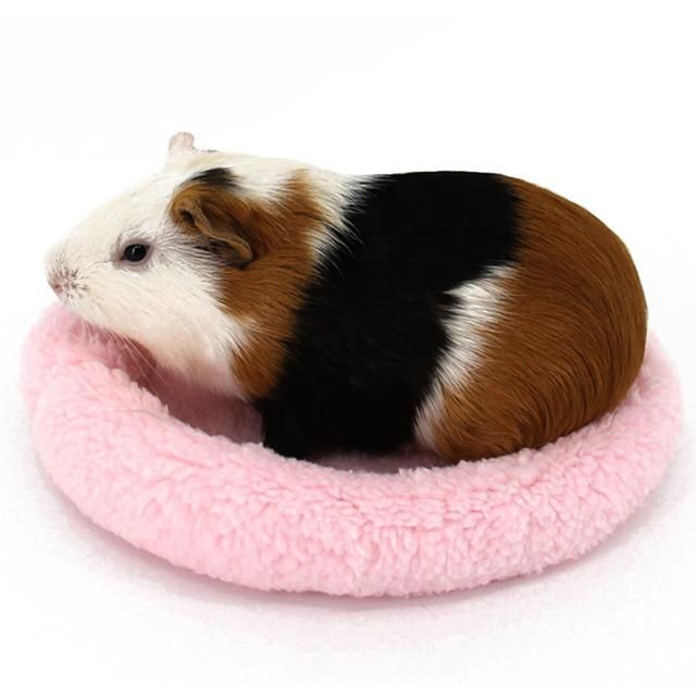 Cute Soft Mini Sleeping Bed Cushion Winter Warm Guinea Pig Cage House Mat for Pet Rat Hamster Ferret Squirrel Accessory New