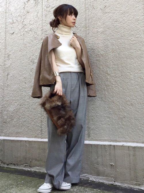 Spick and Span Nobleのライダースジャケット「ソフトラムレザーライダースブルゾン◆」を使ったari☆のコーディネートです。WEARはモデル・俳優・ショップスタッフなどの着こなしをチェックできるファッションコーディネートサイトです。