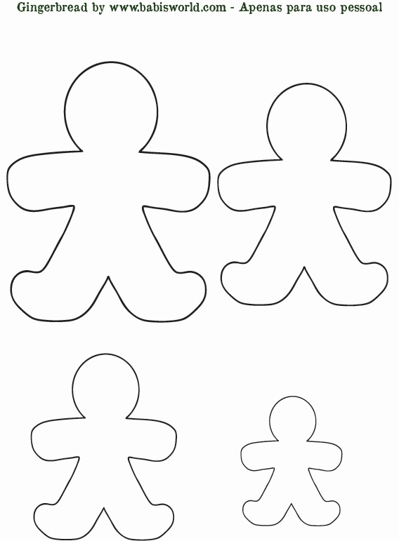 "Gingerbread man template: create out of fabric or paper; hide around the the house for a fun game of ""can't catch me"".:"