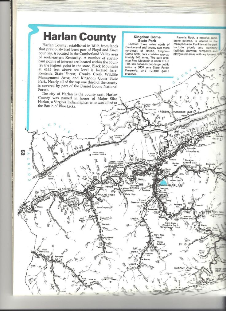 Map Of Harlan KY  See The USA  Pinterest