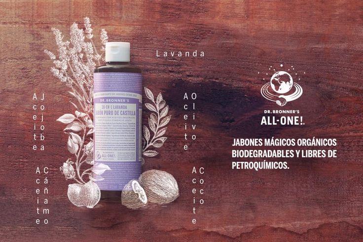 Los jabones de Dr. Bronner's son orgánicos, biodegradables y libres de químicos y derivados del petróleo. Líquidos concentrados y jabones de pastilla, ambos veganos y de comercio justo. Siguiendo la receta tradicional de los jabones de Castilla, limpian la piel abriendo la epidermis, para aportar la verdadera limpieza que la piel necesita. El resultado es una piel limpia en profundidad ... Leer más