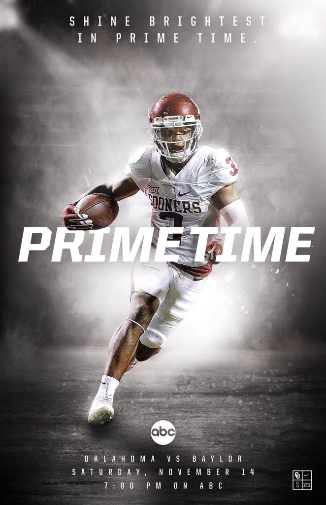 Marketing OF Sports Promotion: Fans of football and Oklahoma, players Place: Distributed through ABC, Oklahoma or Baylor University Price: Free on ABC,Price of TV programs Product: College Football Game