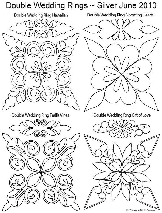 Longarm Quilting Stencils : 86 best images about Double wedding ring quilting ideas on Pinterest Wedding quilts, Shops and ...
