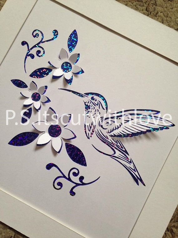 Pop up Hummingbird with flowers  PDF  SVG by PSItsCutWithLove73