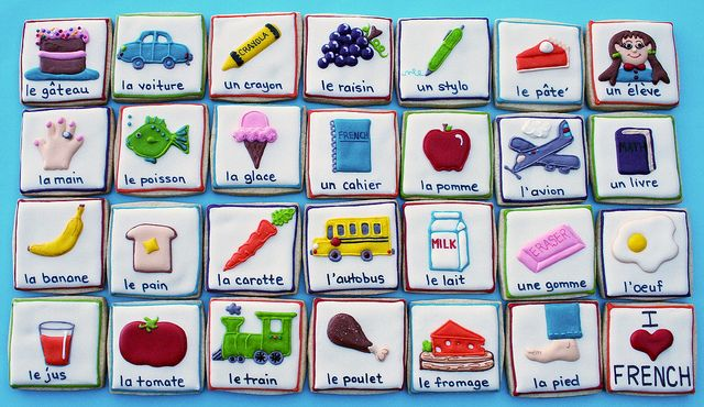 Learn your French with cookies!  Great idea!
